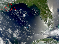July 8, 2010 MODIS Image